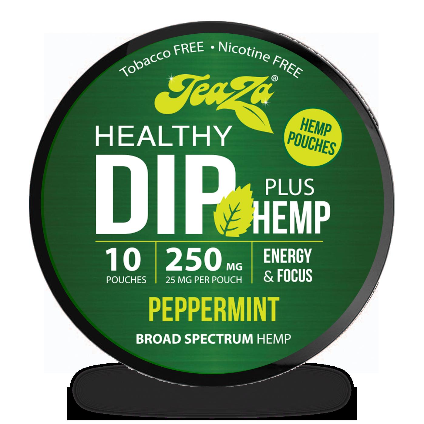 Peppermint TeaZa Hemp Dip Pouches